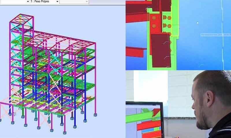 Construção Estrutura Metálica Detalhamento do Projeto
