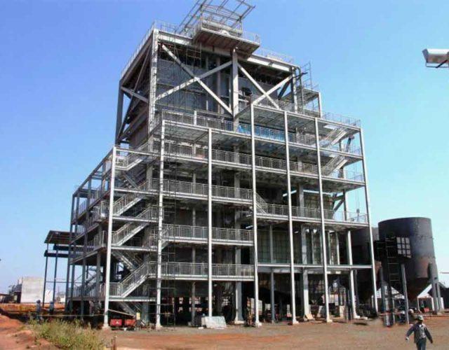 Construção Estrutura metálica Prédio Caldeira - Usina Interlagos