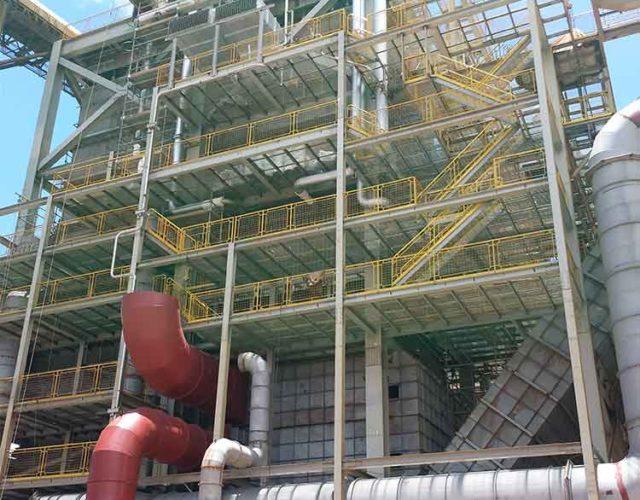 Construção Estrutura metálica Prédio de Caldeira - Raizén Carapó