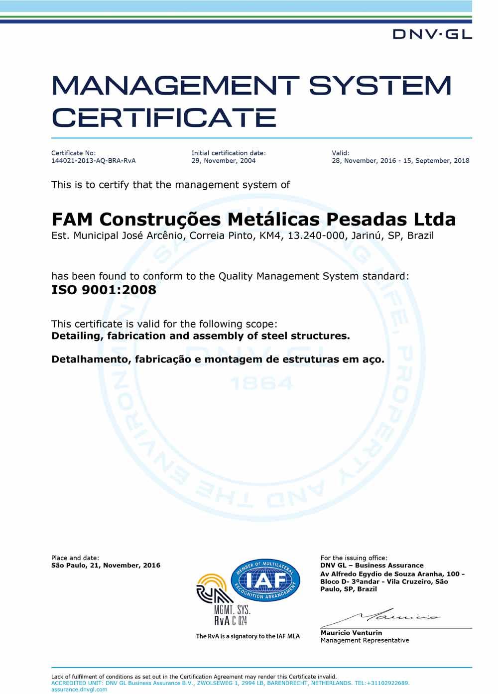 certificacao-iso-9001-fam-estrutura-metalica-2016
