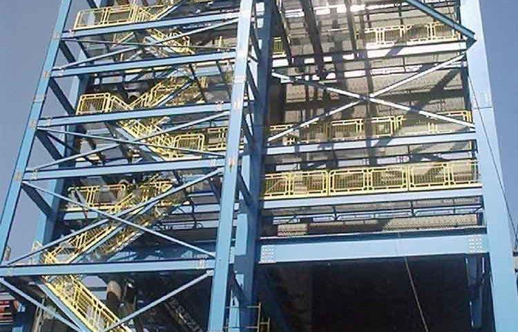 Construção Estrutura metálica  Indústria Sucroalcooleira Prédios de Caldeiras - Cosan
