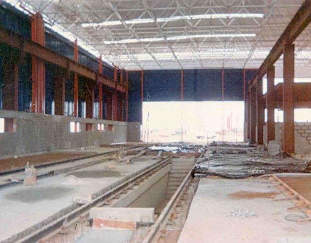 Construção Estrutura metálica Metrô Brasília