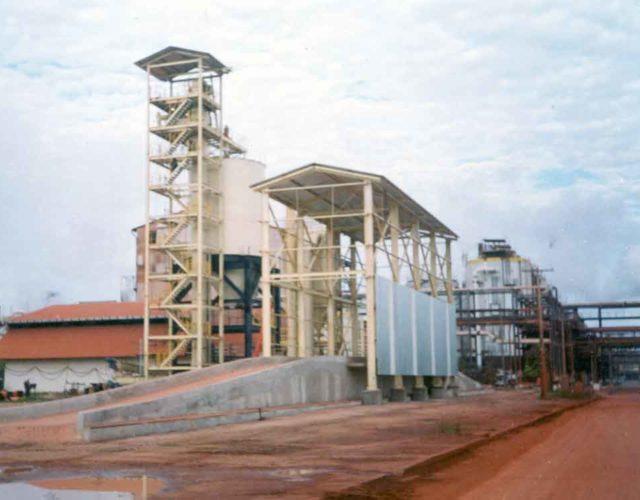 Construção Estrutura metálica   Siderurgia, Mineração e Energia Garcia Jaragua - Projeto Alunorte