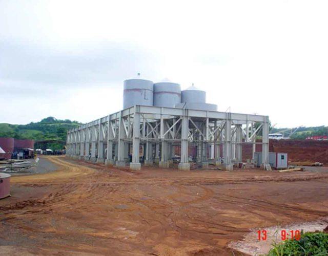Construção Estrutura metálica  Siderurgia, Mineração e Energia Prédios de Silos e Casas de Transferência - ICAL