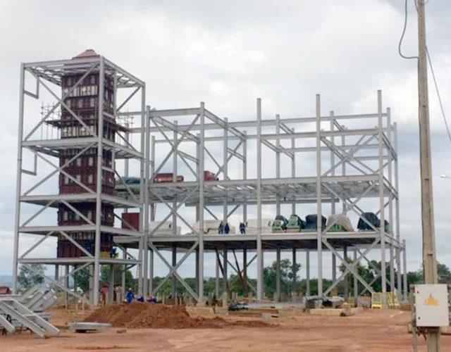 Construção Estrutura Metálica  Alimentícia, Química e Automobilística Prédio Industrial - Intecnial