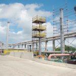 Construção Estrutura metálica Pipe Racks Pesados