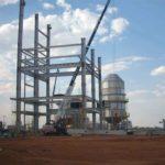 Construção Estrutura metálica Galpão, Caldeira e Outros – Usina Nova América