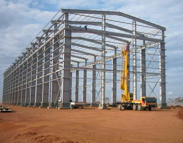 Construção Estrutura metálica  Indústria Sucroalcooleira Galpão, Caldeira e Outros - Usina Nova América