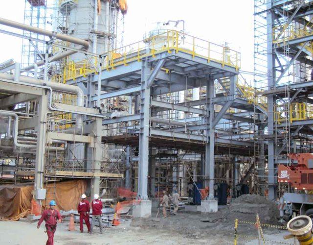 Construção Estrutura metálica  Alimentícia, Química e Automobilística Prédio de Reação - Oxiteno