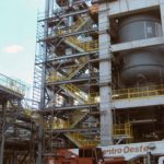 Construção Estrutura metálica Prédio de Reação – Oxiteno