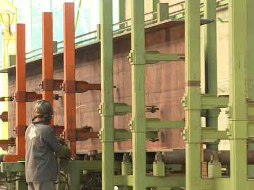 Construção Estrutura Metálica corte furacao para cantoneira