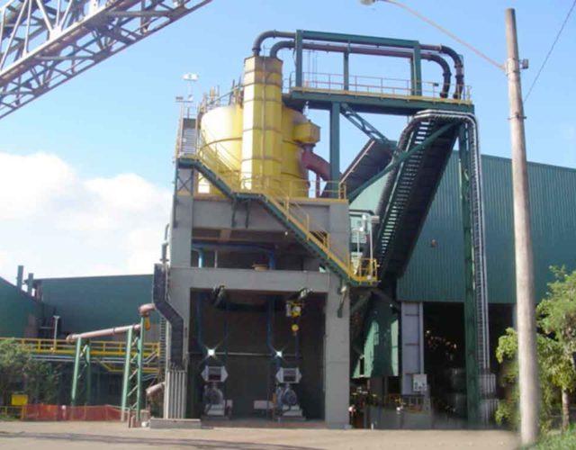 Construção Estrutura metálica Prédio industrial - Samarco
