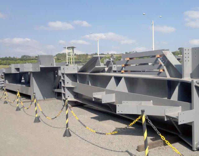 Construção Estrutura metálica Casas de Transferência e Galerias – Vale S/A