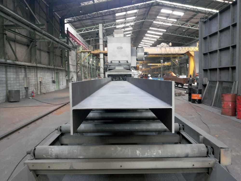 Construção Estrutura metálica jateamento qualidade