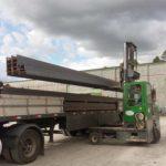 Construção Estrutura metálica recebimento materiais