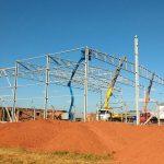 Construção Estrutura metálica  Galpão Industrial e Demais Facilidades – Asperbras Petróleo, Papel e Celulose