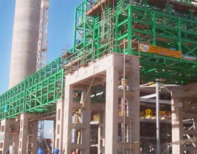 Construção Estrutura metálica Petróleo, Papel e Celulose Pipe Racks - Veracel Celulose