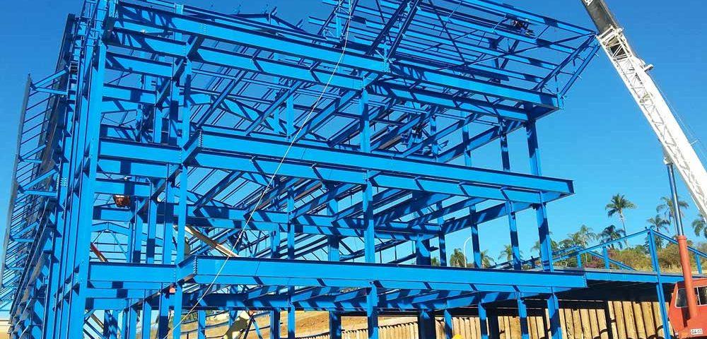 Construção Estrutura metálica Siderurgia, Mineração e Energia Prédio e Pipe Rack - CBMM