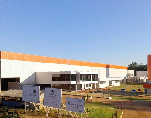 Construção Estrutura metálica Galpão Industrial - Siderurgia, Mineração e Energia Correias Mercúrio
