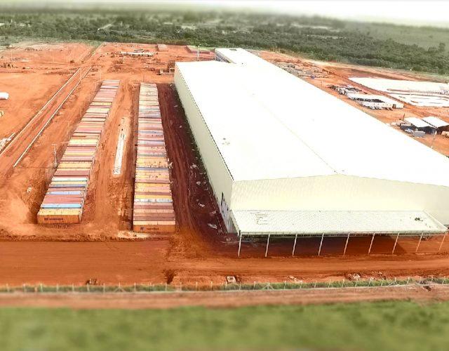 Construção Estrutura metálica Galpão Industrial e Demais Facilidades - Asperbras Petróleo, Papel e Celulose