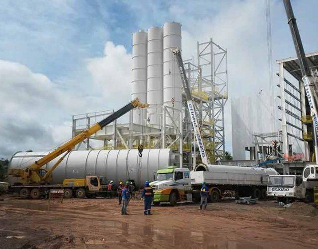 Construção Estrutura Metálica FAM prédio silos